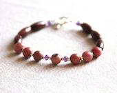 Bracelet gemstones, rhodo...