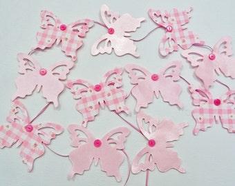 Pink butterfly Garland