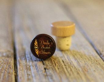 BEST PRICE ** Lot of Personalized Custom Wine Stopper, Laser Engraved Cork Bottle Topper, Reusable Rustic Wedding Favor --WS-dg-DarlasShower