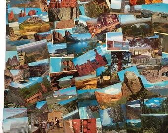 Lot of 100 Mid Century Vintage Postcards Never Used