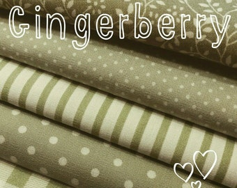 Gingerberry LONG Bunting - sage green mixed floral gingham spots shabby chic party wedding