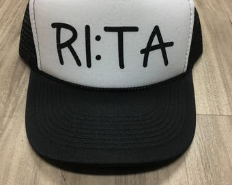 Margarita Trucker Hat Rita Time Margarita Time Women's Trucker Hat Glitter