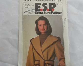 1977 Simplicity Misses Front Wrap Jacket Sewing Pattern