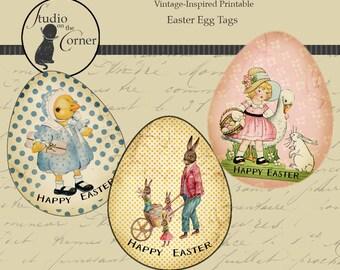 Easter Egg Printable Tags, Easter Gift Tags, Spring Gift Tags, Easter Tags DIY Gift Tags, Printable Gift Tags