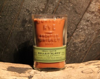 Bulleit Rye Whiskey Candle / Soy Candle / Gift For Dad, Bourbon Candle, Father's Day Gift, Whiskey Gifts, Man Candle