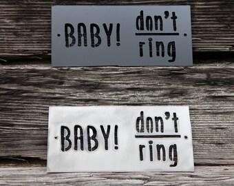 Baby Sleeping Doorbell Sign