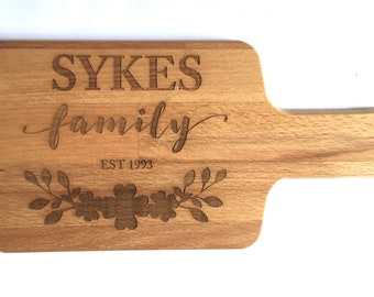 Personalised Family Wooden Bread / Chopping / Cheese Board