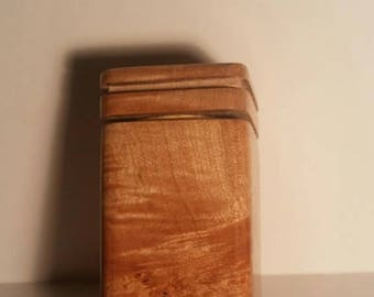 Maple burl stash jar