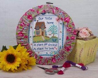 Hoop garter for cross stitch / Hoop guard / Embroidery hoop cover / Grime garter / Hoop garter / Cross stitch / X stitch / Grime guard / MTO