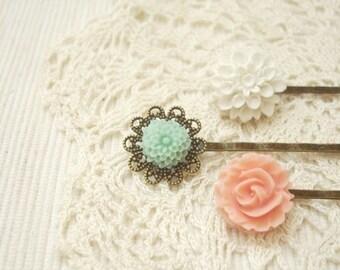 car(ed) - lovely vintage hair pin set.