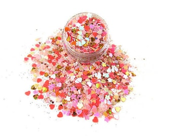 Mermaid Sunrise Mix Glitters For Face & Body | Festival And Party Chunky Glitter Gems | Beauty Makeup Unicorn Birthday | Face Jewels