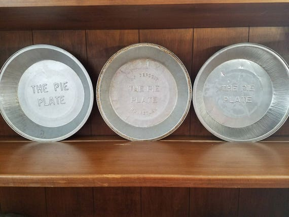 The Pie Plate - vintage 9\  pie plates reusable pie plates tin pie plate vintage baking items bakers tin 9 inch pie plates from ConnecticutsCloset on ... & The Pie Plate - vintage 9\