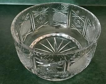 "Crystal Cut Glass ""Pineapple"" Bowl"