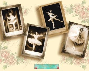 Ballet, Cards, Epherma, Vintage Stationery Postcard, Decoupage, Backgrounds Digital Collage Sheets Printable Images scrapbooking gift tags