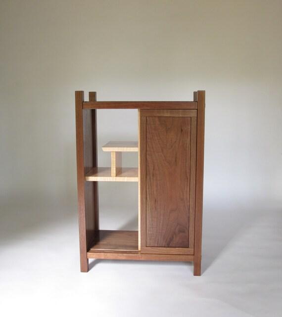 BAR CABINET: Liquor Cabinet, Dry Bar, Modern Wood Bar- Handmade Custom Furniture
