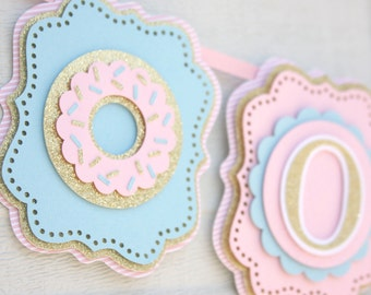 Donut birthday party banner, donut first birthday banner, bakery party, bakery birthday, donut baby shower, bakery baby shower