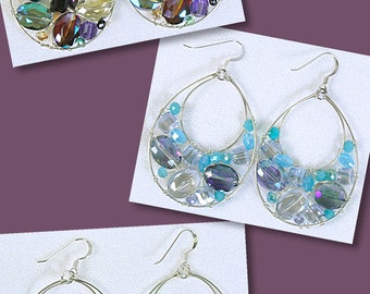Sterling Silver Fish Wire with Crystal Earrings