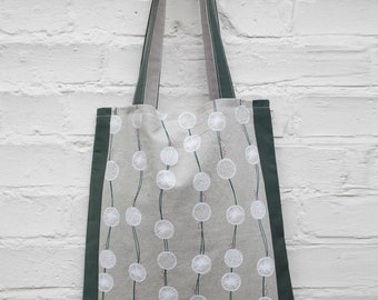 Unique handmade cotton tote bag
