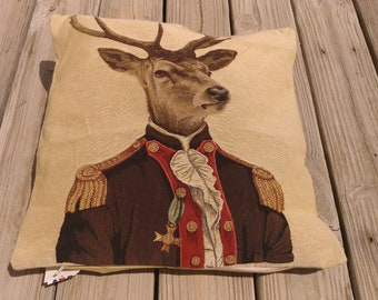 Stag Pillow Cover forest decor cushion 18 X 18 Made in England