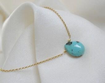 Choker turquoise Sleeping Beauty choker with turquoise sleeping pendant