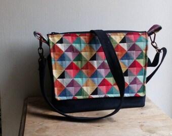 cross body, rainbow gift woman, crossbody handbag woman, messenger bag for her, shoulder bag crossbody, unique woman,  crossbody, messenger