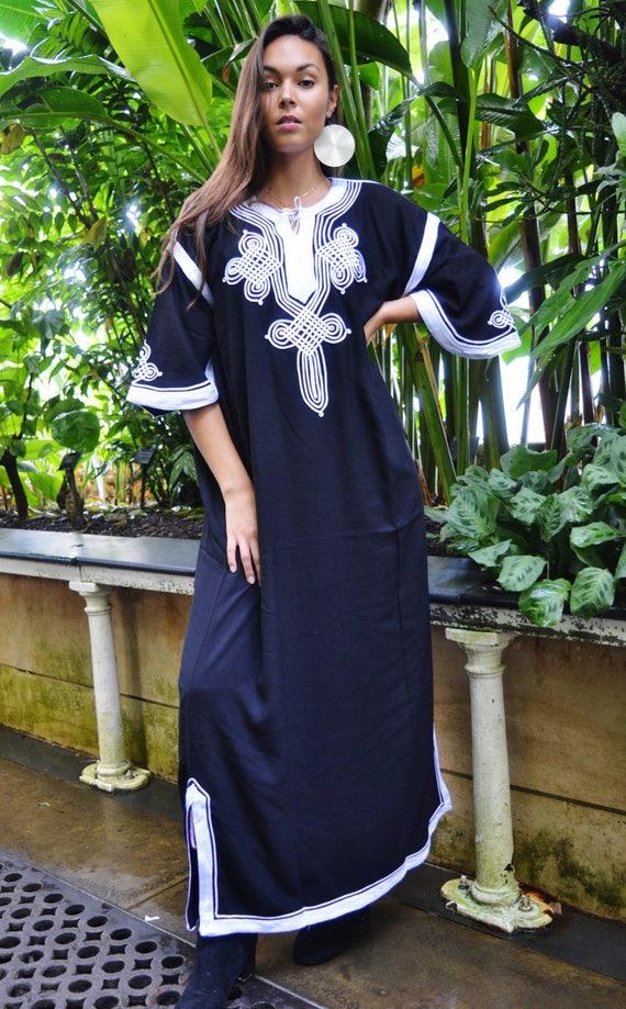 Kaftan, Caftan, Black Moroccan Kaftan Maxi Dress -Aziza -Beach Kaftan, wedding kaftan, maxi dress,, Ramadan, Eid