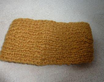 Handmade wool knitted headband or ear warmer