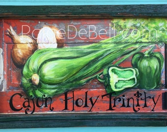 Cajun Holy Trinity * New Orleans art on Architectural Salvage