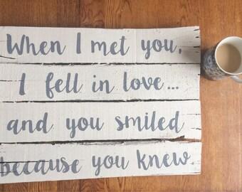 When I met you....