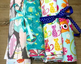 Novelty Scrap Pack, 20 Piece Fabric Scrap Pack full of Novelty Prints, Weave and Woven