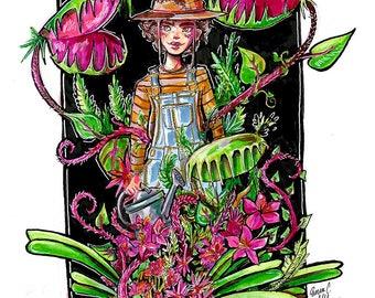 Garden Witch Original Artwork