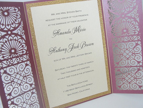 Wedding invitations wedding invites laser cut wedding like this item filmwisefo