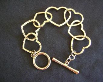 Gold Tone Heart Bracelet