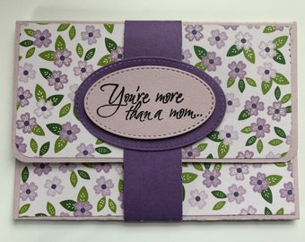 Mothers Day gift card holder, Money holder, Cash holder, Happy Mothers day , Mothers day gift, Mom, Mother, Congratulations,Friend