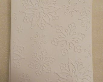 Handmade Snowflake Embossed All Occasion Greeting Cards, Set of 5, Handmade Greeting Card, Colorgul Card,  Made in the USA, #27G