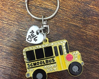 Bus Driver Personalized Keychain