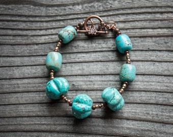 Turquoise Magnésite Bracelet