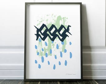 Abstract Rain | Instant Download Printable Art, Digital Download Prints, Abstract Art Prints, Downloadable Prints