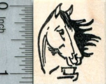 Year of the Horse Rubber Stamp, Chinese New Year, Zodiac D32407 Wood Mounted