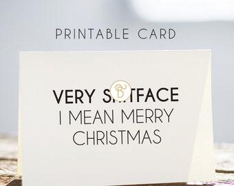 merry christmas card, funny merry christmas card, printable merry christmas card, sarcastic merry christmas card