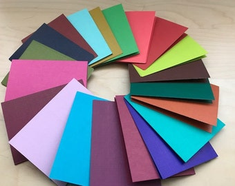 50 3x4 BOLD Color Journals Notebook 20 or 40 pages