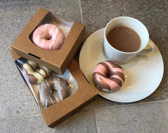 Novelty Doughnut Soap - Doughnut box -  choose your colours/scent - perfect for gifts and birthdays