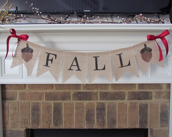 Fall Burlap Banner - Customize End Pennants,Fall Decor,Fall Decorations,Thanksgiving Decorations,Rustic Fall Decor
