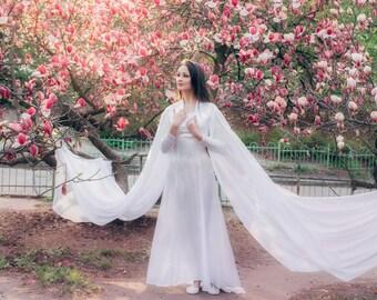 Elven Wedding Dress, White Elven Gown