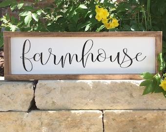 Farmhouse Sign | Farmhouse Decor | Wood Sign | Custom Sign