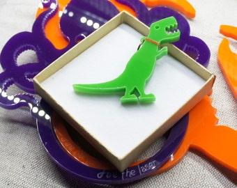 Pet Tyrannosaurus Rex dinosaur necklace or brooch