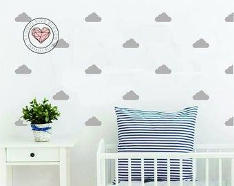 Cloud Wall Decal Wall Decor Scandinavian Sticker Nursery Decor Kids Bedroom