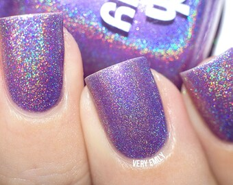 Holographic - You're A Grape Friend:  Custom-Blended Glitter Nail Polish / Indie Lacquer / Polish Me Silly