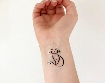Kitty Cat - Temporary Tattoo