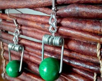 Green Spring Earrings